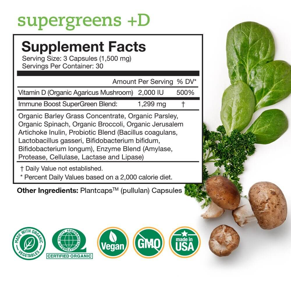 Supp Facts SupergreensD